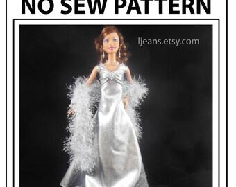No Sew 11 in Barbie Bodice Evening Dress  Pattern