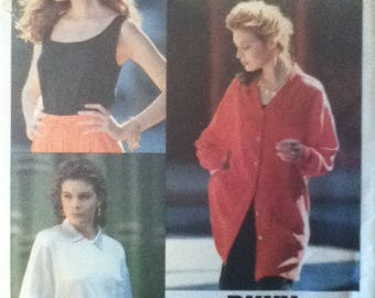 "Vogue American Designer Top Pattern 2451  Size: 6-10, Bust 30""-32"", Waist 23""-25"", Hip 32""-34"""