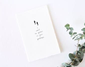 Simple Father's Day Card - Mother's Day - Admiration Card - Follow in Your Footsteps