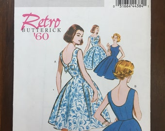 Retro Butterick Dress Sewing Pattern - B5748