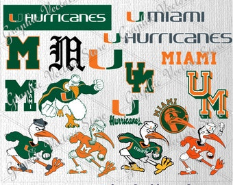 Miami svg, University svg, Files for Silhouette, Files for Cricut, Print Files, Files for Cutting Machine.
