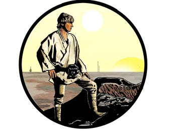 Luke Skywalker STAR WARS Refrigerator Magnet