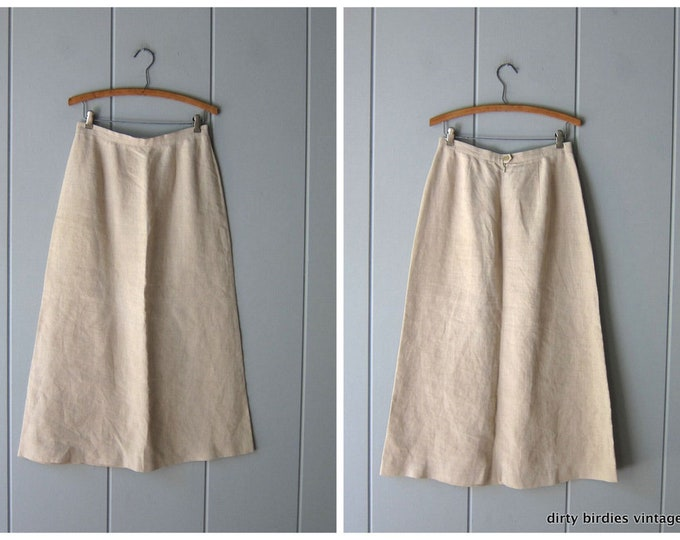 Minimal Linen Skirt