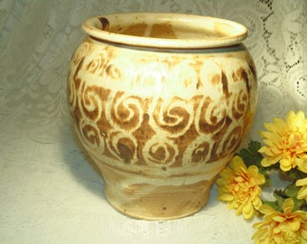 SALE - 14.99 Reg. 39.00 -  Decorative Handmade Pottery - Signed - Warm Antique Older Appearance - Very Heavy - New - Unused.