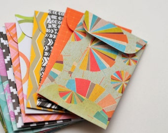 Gift card envelopes etsy assorted gift card envelopes mini envelopes blank cards business card reheart Choice Image