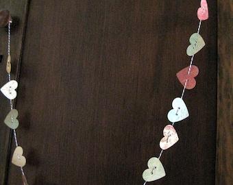 Paper Heart Garland - Antique Colors