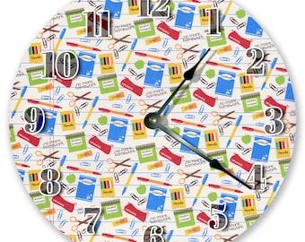 "10.5"" SCHOOLWORK Clock - Large 10.5"" Wall Clock - Classroom Clock - Round Wall Clock - Kids Clock - Home Decor - Student Gift - 3092"