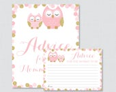 Pink and Gold Owl Baby Sh...