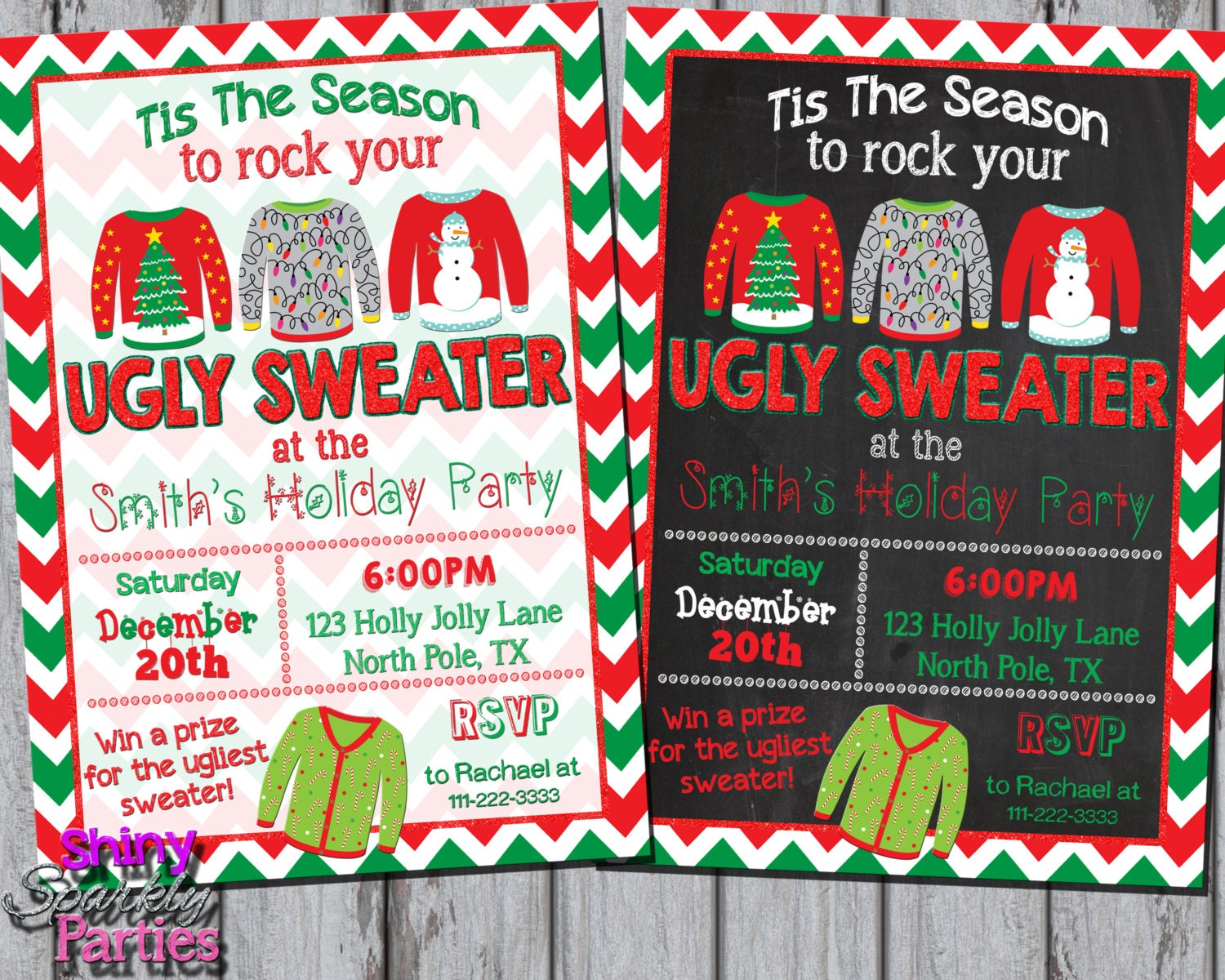 UGLY SWEATER INVITATION Ugly Christmas Sweater Party Invite - Ugly sweater christmas party invitations template