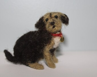 Needle felted dog wool felt puppy