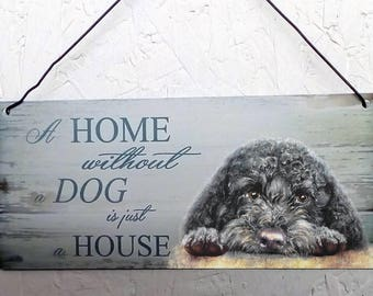 Cockapoo / Cavapoo Metal hanging sign
