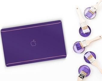 Pop Violet Macbook Pro 13 Case Macbook Air Case Laptop Case Macbook Case . Pop Violet and Pink Chrome Edge Detailing - Platinum