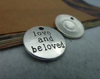 20 Love And Be loved Charms Silver Metal Findings Pendant Bracelet Earrings Zipper Pulls Keychains (YT2490)