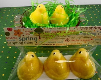 Easter Chick Soap - Easter Favors Soap - Easter Basket Soap - Gift Package Soap - Spring Soap -Guest Soap - Mini Soap - Artisan Soap