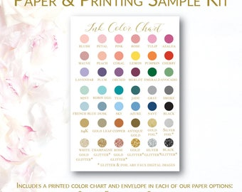 Paper & Printing Swatch Kit | Sample Pack | Color Chart |
