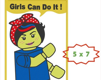 Rosie the Riveter - Girls can do it!