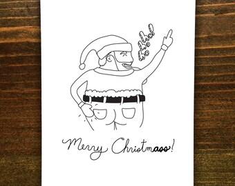 Merry ChristmA5S! - Handmade Card - Santa