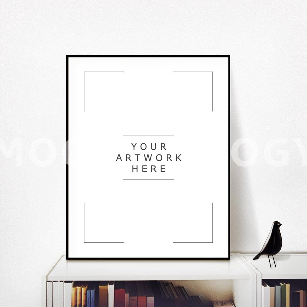 Maqueta de marco DIGITAL negro Vertical de 8 x 10 librería