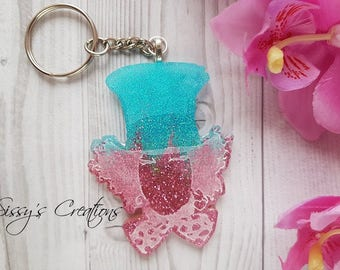 Keychain Mad Hatter Resin