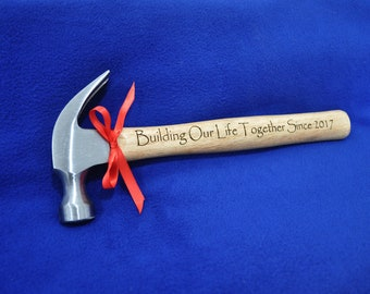 Anniversary Gifts ~ Anniversary Gift For Husband ~ Personalized Gifts ~ To Husband From Wife ~ Custom Engraved Hammer ~ Hammer ~ Great Gift