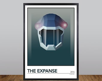 The Expanse Print, Minimalist TV/Film/Movie Poster Unofficial Fan Art