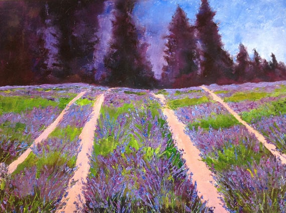 Lavender Days, Lavender Farm, French Lavender Fields, XL Painting
