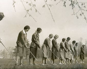 Sports activities at New Jersey Women's College.  4/14/1931.     (8 x 10)