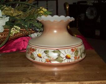 Milk Glass  Handpainted Fenton Lamp Shade