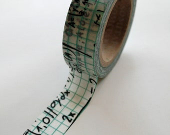 Washi Tape - 15mm - Calculus Math - Deco Paper Tape No. 389