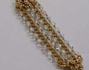 Kirks Folly Crystal Wide Bracelet