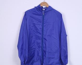 Vintage Mens XL Jacket Kangaroo Pocket Navy