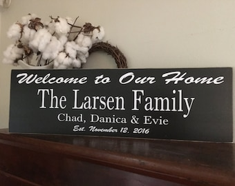 Family Name sign,Fixer Upper Inspired Signs,30x9.25, Rustic Wood Signs, Farmhouse Signs, Wall Décor