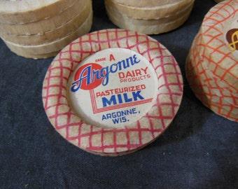 New Unused Paper Milk Bottle Tops 78 pcs - Vintage