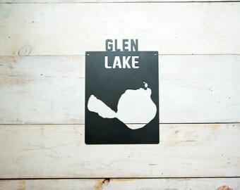 Glen Lake Steel Map Michigan