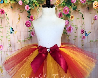 ON SALE, FAST Shipping, Birthday Tutu, Red and Yellow Tutu, Chica Inspired Tutu, Daniel Tiger Inspired Tutu, Winnie the Pooh Inspired Tutu
