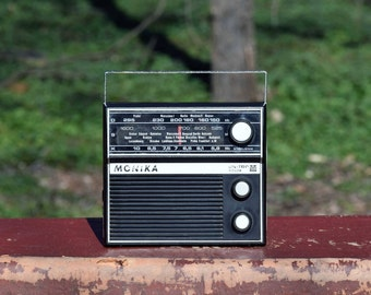 Vintage radio, Portable radio transistor, Polish radio Monika Unitra, Radio receiver, Transistor radio, Old radio, Collectibles