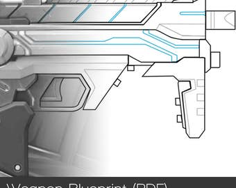 Overwatch - Cyberspace/Augmented Sombra Weapon Pattern (PDF) for Cosplay