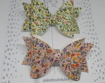 Liberty of London fabric hair bows