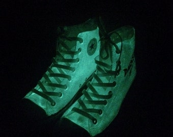 Glow in the Dark Custom Converse Shoes
