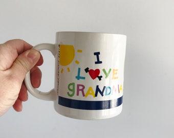 Vintage Ceramic Grandma Mug | Colorful Mug | Coffee Mug | Tea Cup | Lillian Vernon Mug | Gift for Grandma