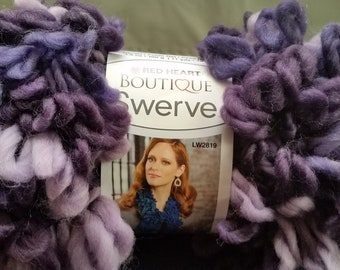 Red Heart Swerve Yarn Purple and Violet, Great for Crcheting