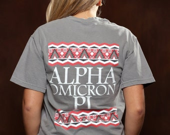 Alpha Omicron Pi Tribal Comfort Colors T-shirt - AOPi T-shirt