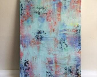 "Medium Abstract Painting Original Acrylic Art ""Refresh"""