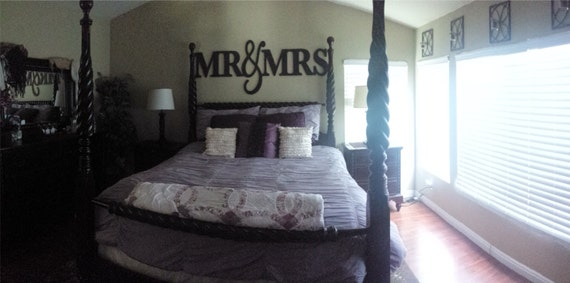Mr Mrs Wall Sign For Bedroom Decor And Forrhetsy: Mr And Mrs Sign Wall Decor Bedroom At Home Improvement Advice