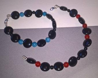 """Onyx Bracelet with Carnelian - """"Nightlife"""""""