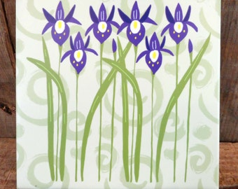 Iris and Swirl Trivet**