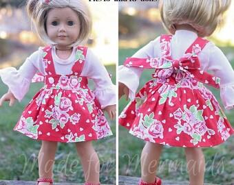 DOLLY Samantha Suspender Skirt PDF Sewing Pattern