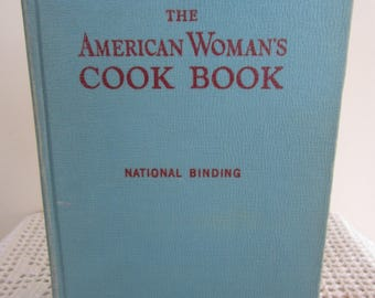 Vintage The American Woman's Cook Book 1950 Color Photos 1000's of Recipes Thumb Index