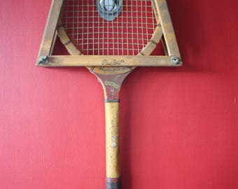 Antique Wright and Ditson Tennis Racket with Press