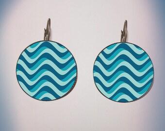 Earrings - fancy ' pattern: Waves '